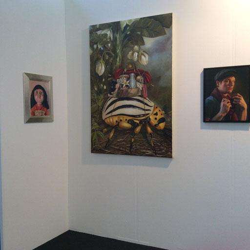 Art Karlsruhe 2015, Stand H3/F 16 der Galerie KK, Wand Michaela Classen, Heike Feddern, Andreas Leißner