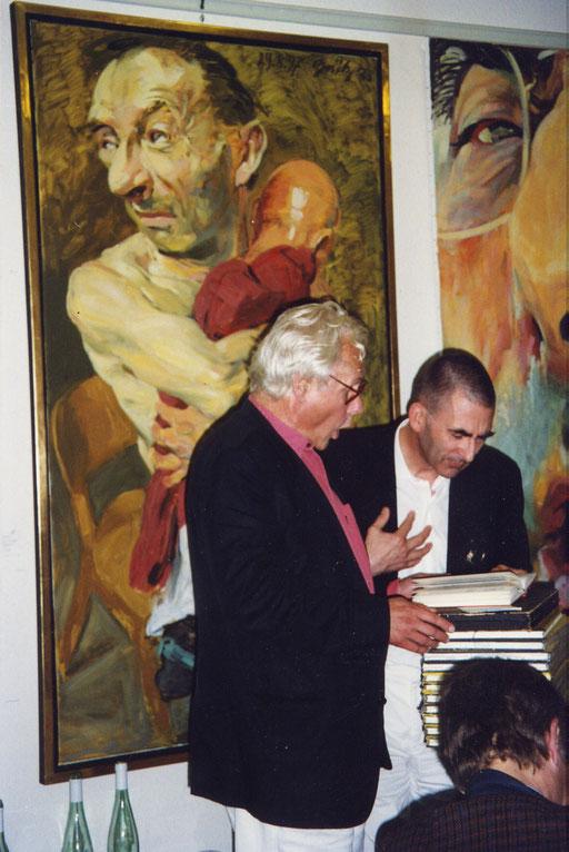 Tilman Lehnert und Johannes Grützke 1997 in der Galerie KK