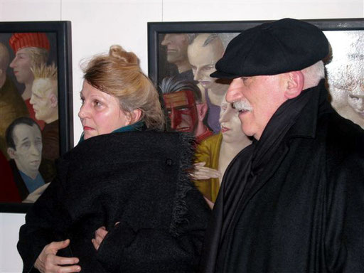 Henriette und Volker Stelzmann 2006 in der Galerie KK