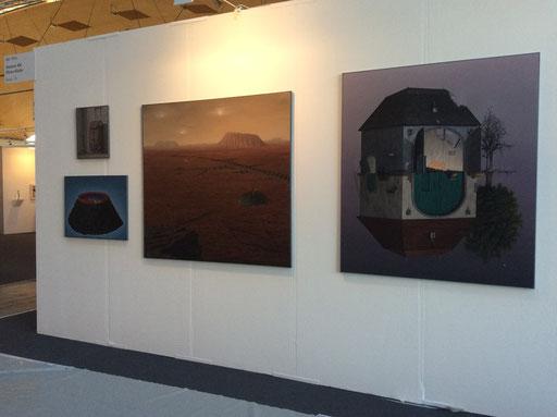 Art Karlsruhe 2015, Stand H3/F 16 der Galerie KK, Wand André Schulze