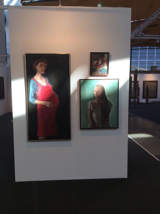 Art Karlsruhe 2015, Stand H3/F 16 der Galerie KK, Wand Bettina Moras