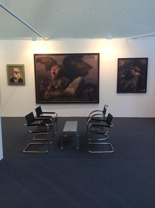 Art Karlsruhe 2015, Stand H3/F 16 der Galerie KK, Wand Yongbo Zhao