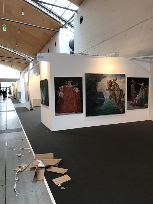 Art Karlsruhe 2018, Stand  H3/F 14 der Galerie KK, Wand Pavel Feinstein