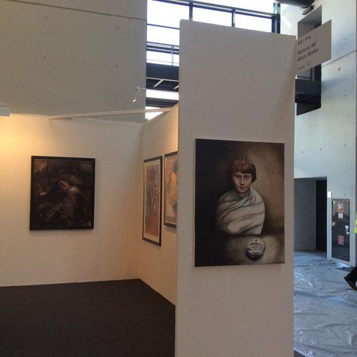 Art Karlsruhe 2015, Stand H3/F 16 der Galerie KK, Wand Michaela Classen