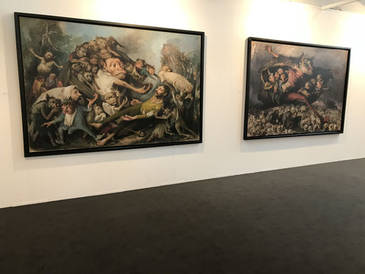 Art Karlsruhe 2018, Stand  H3/F 14 der Galerie KK, Wand Yongbo Zhao