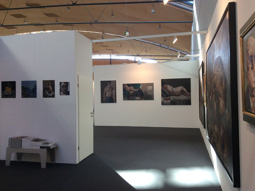Art Karlsruhe 2015, Stand H3/F16 der Galerie KK, Wand Pavel Feinstein