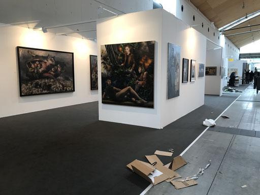 Art Karlsruhe 2018, Stand  H3/F 14 der Galerie KK, Andreas Leißner