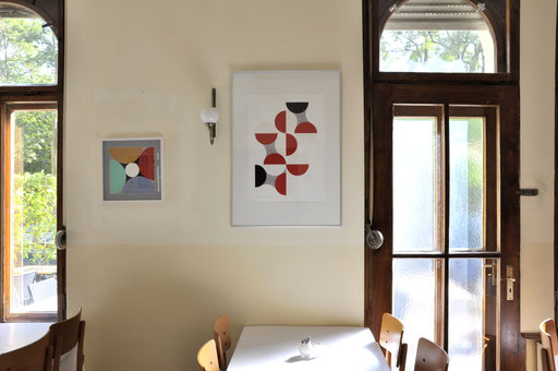 Ellen Roß: Quadratur des Kreises,  Ausstellung im Brot und Rosen, Berlin 2015