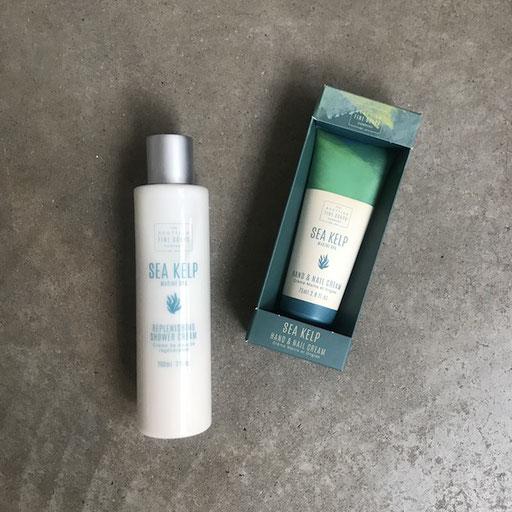 Sea kelp shower cream 11,50 Euro | Hand- und Nagelcreme 10,50 Euro