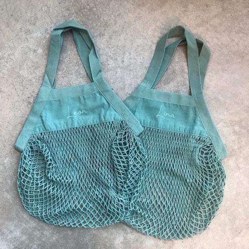 Kinderstringbag türkis personalisiert 9,50€