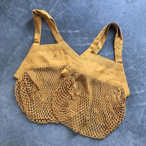 Kinderstringbag gelb personalisiert 9,50€