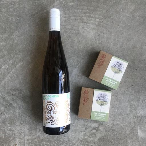 von Winning sauvignon blanc II | Goldhelm Schokolade zum Weißwein 7,50/100g