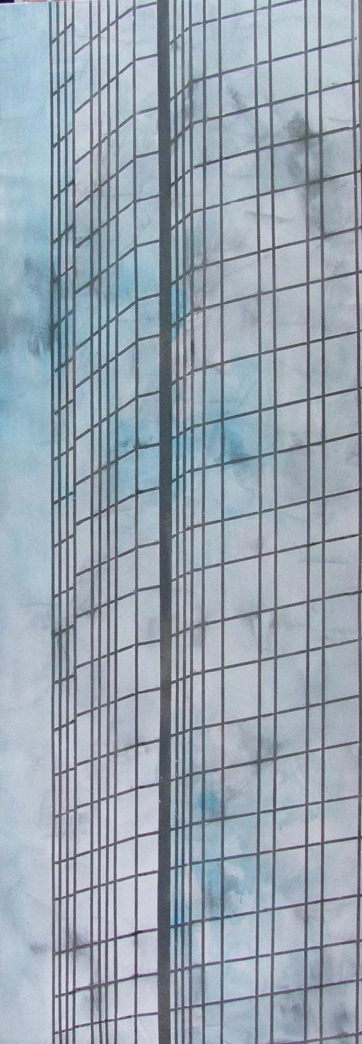 Acryl, Tusche auf Leinwand, 200x70, 2017