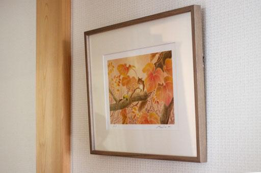ホームに飾っている絵画