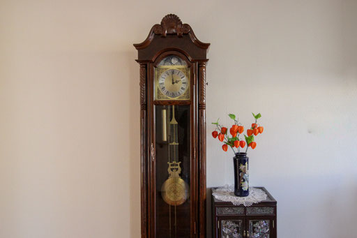 共有部分の振り子時計