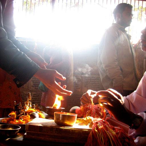 In einem Tempel in Indien
