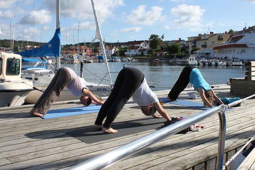 Yoga aufm Steg