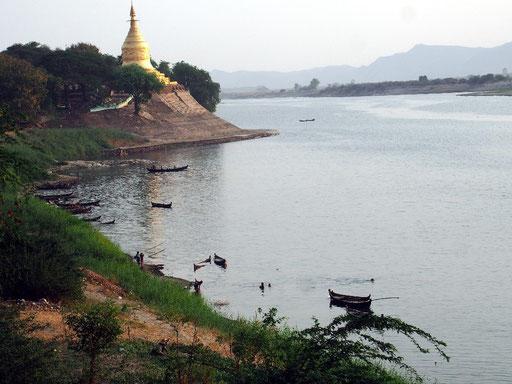 Abendstimmung - Erfrischung am Irrawaddy