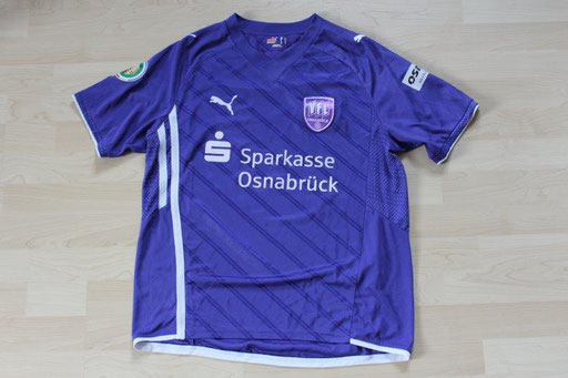 VfL Osnabrück 2009/10 Heim DFB-Pokal (31.07.2009, Hansa Rostock) Nr.11 Lejan  (Matchworn)