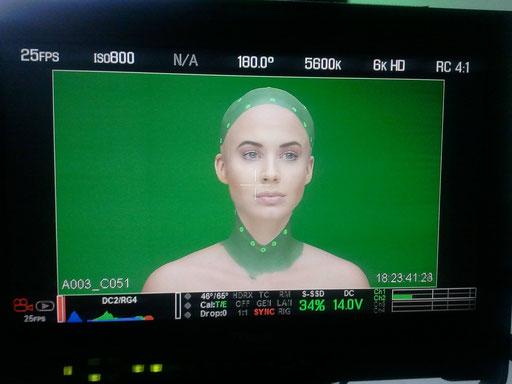 Audi Dreh Westside Studios Frankfurt - Special Effect Make-up - Glatze Making of - Model: Janina Wissler