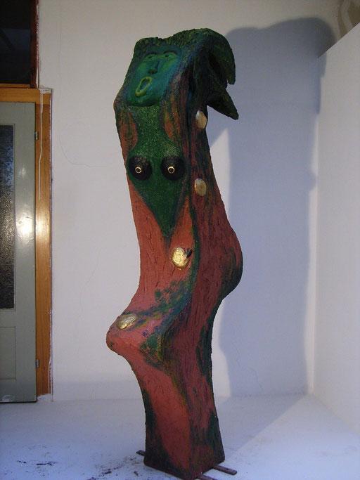 Hesperide 2006, 1 aus einer Gruppe von 3 Hesperiden, NonaD (Kunststein), Acryl