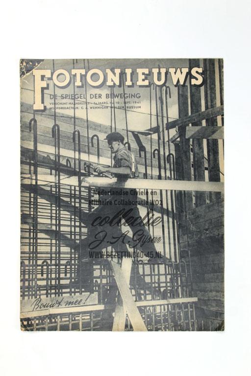 Fotonieuws - De Spiegel der Beweging - 1e jaargang, nummer 10 – 1941