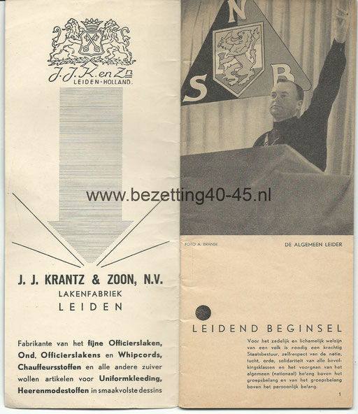 NSB Brochure 4e Landdag 5 Oktober 1935.