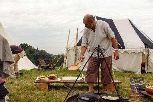 Die Lagerküche entspricht einer alten Tradition. Wir kochen nach alten Rezepten! /Foto: Stephan