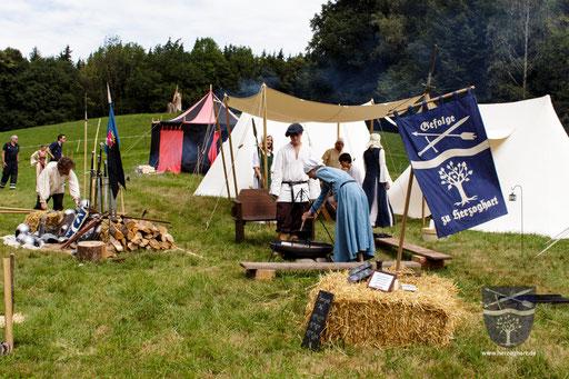 Die Vorbereitungen für das Mittelalterfest in Piding laufen. /Foto: Stephan