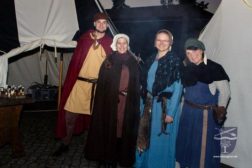 Stephan (links), Miriam (mitte links), Sonja (mitte rechts) und Renate (rechts) waren unter anderem für euch da. /Foto: Julia