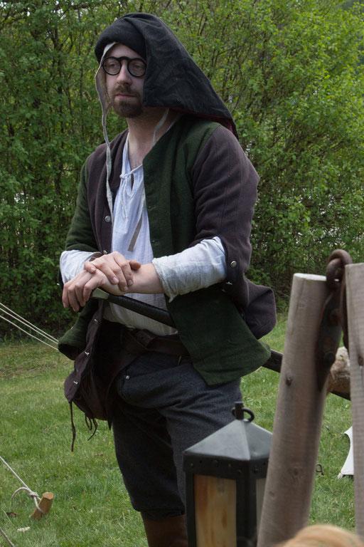 Schon bald geht es für Schwertmeister Dustin wieder in den Kampf. /Foto: Julia