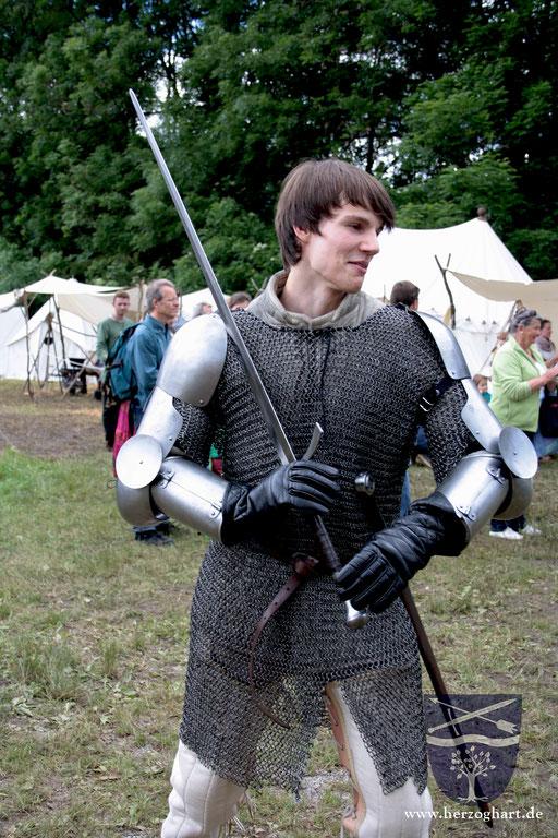 Daniel ist bereit für den bevorstehenden Kampf. /Foto: Julia