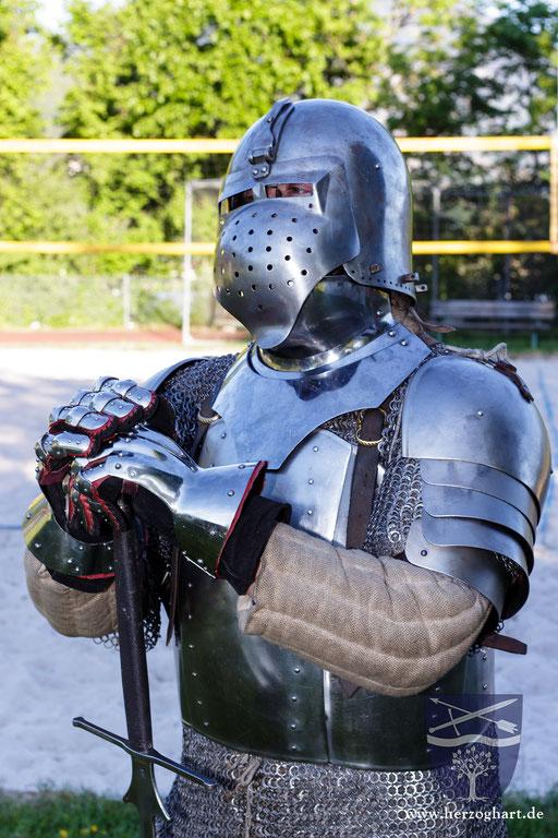 Die Rüstung schützt die Streiter vor den Schlägen des Gegners. /Foto: Julia