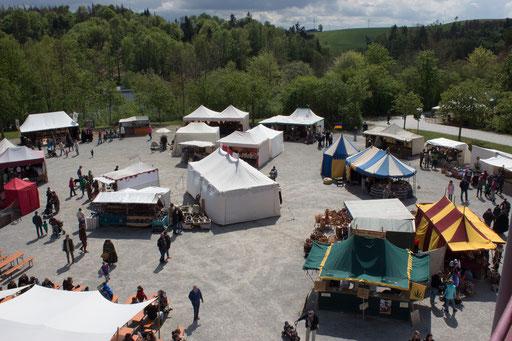 Das Mittelalterfest in Hauzenberg bot für Besucher und Gruppen viel. /Foto: Julia