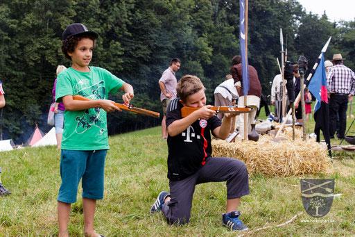 Unser Kinderarmbrustschießen ist sehr beliebt. /Foto: Stephan