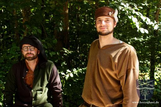 Die beiden Fechter des Gefolges: Dustin (links) und Stephan (rechts). /Foto: Frederik