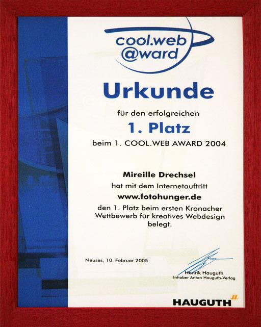 1. Platz Web Award
