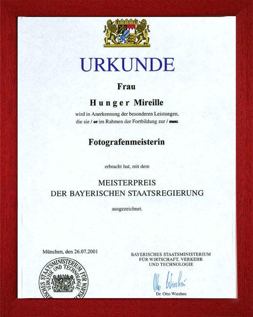 bayr. Staatspreis zur Meisterprüfung