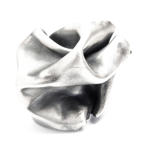 Oxidized Folds Ring Big