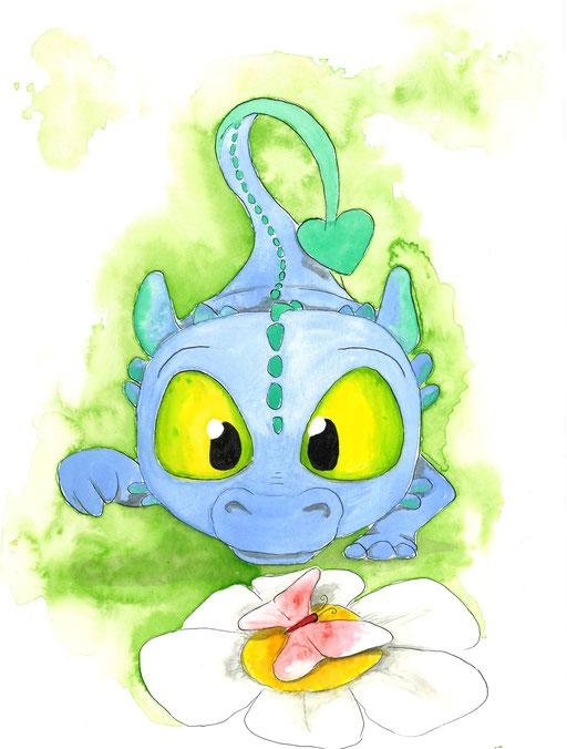 Drache Fridolin - von dem wird es noch Einiges zu berichten geben #dragon