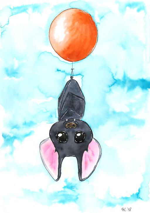 Fliegende Fledermaus #batman #bat #ballon #balloon