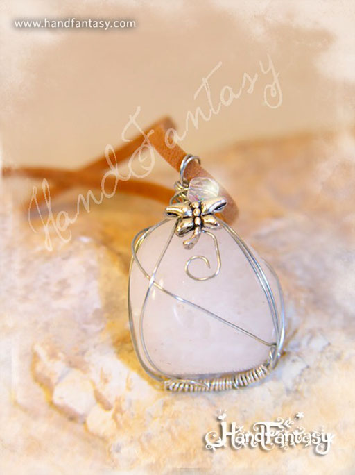 Colgante Cuarzo blanco, Piedra blanca, Colgantes de cuarzo, piedra de Cuarzo blanco, Collar Cuarzo blanco