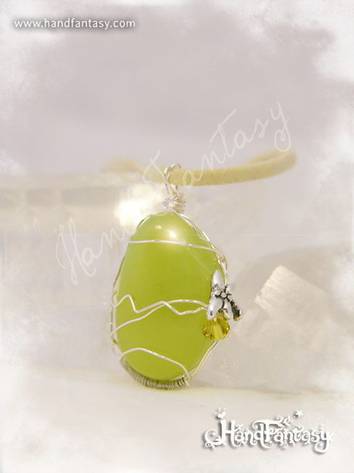 Colgante Jade, Piedra preciosa verde, Colgantes de cuarzo, piedra de jade, Collar de Jade