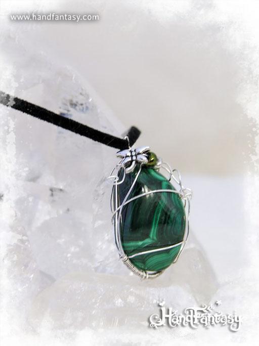 Colgante Malaquita, Piedra verde, Colgantes de Malaquita, collar de piedra verde, Colgantes de Malaquita, piedra de Malaquita, Collar de Malaquita