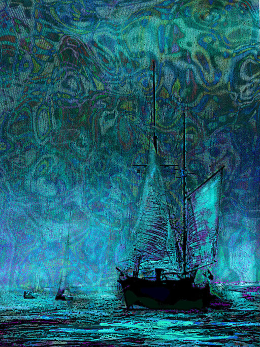 Sail Boat  with Blue Sky