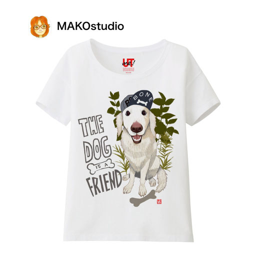 ユニクロUTme Tシャツ/サイズ、色が選べます。やんちゃワンコ。