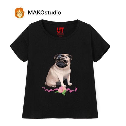 バグ&桃/ユニクロUTme Tシャツ/サイズ、色が選べます。