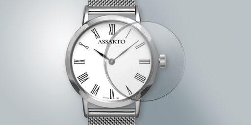 Uhr mit Saphierglas