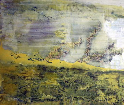 Landschaft gelb II, 2014, Öl auf Leinwand, 120 x 140 cm