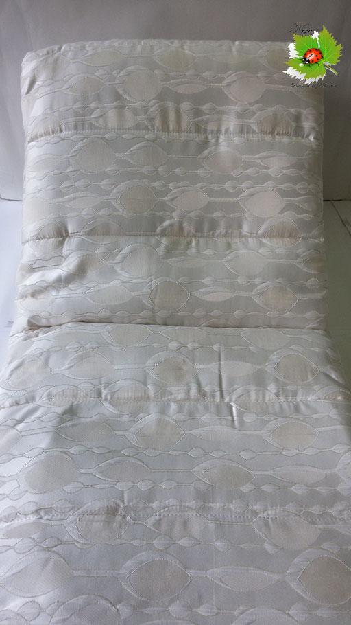 Trapunta piumone invernale Sergio Tacchini matrimoniale con due cuscini. Col.Panna.A968